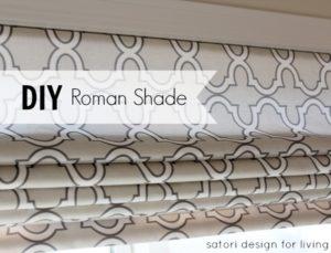 DIY Roman Shade Using Spoonflower Fabric by Satori Designs for Living