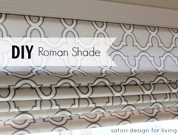 DIY Roman Shade Using Spoonflower Fabric by Satori Designs for Living