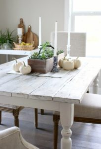 Whitewashed Reclaimed Wood Dining Table from Satori Designs for Living