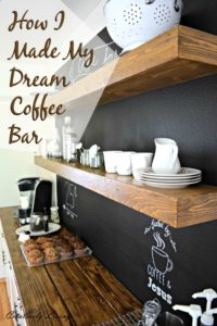 How I Made my Dream Coffee Bar from Creatively Living