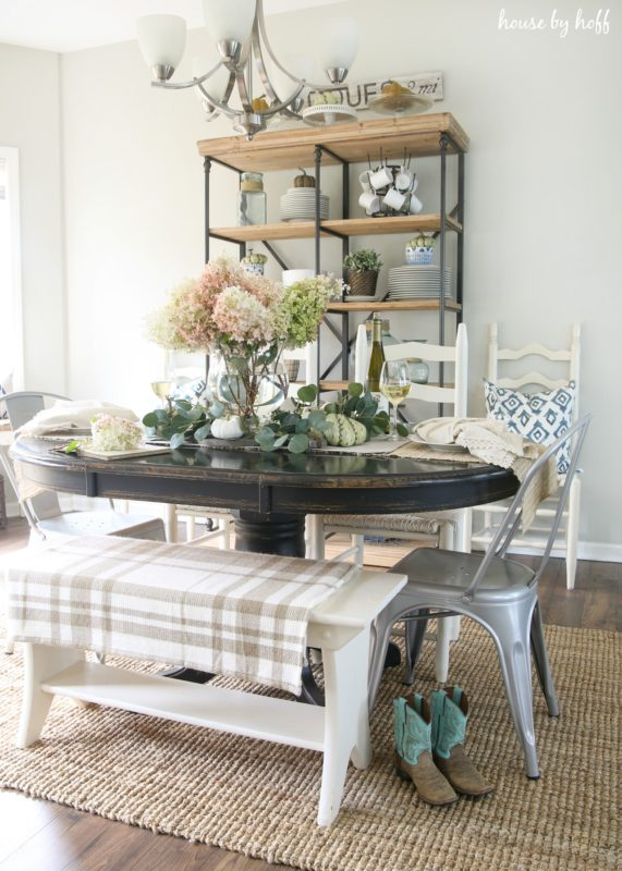 Fall Dining Room and Tablescape from House by Hoff