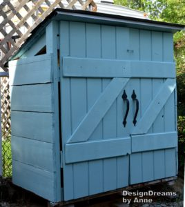 The Mini Shed Project aka I built a shed for $30 by Design Dreams by Anne