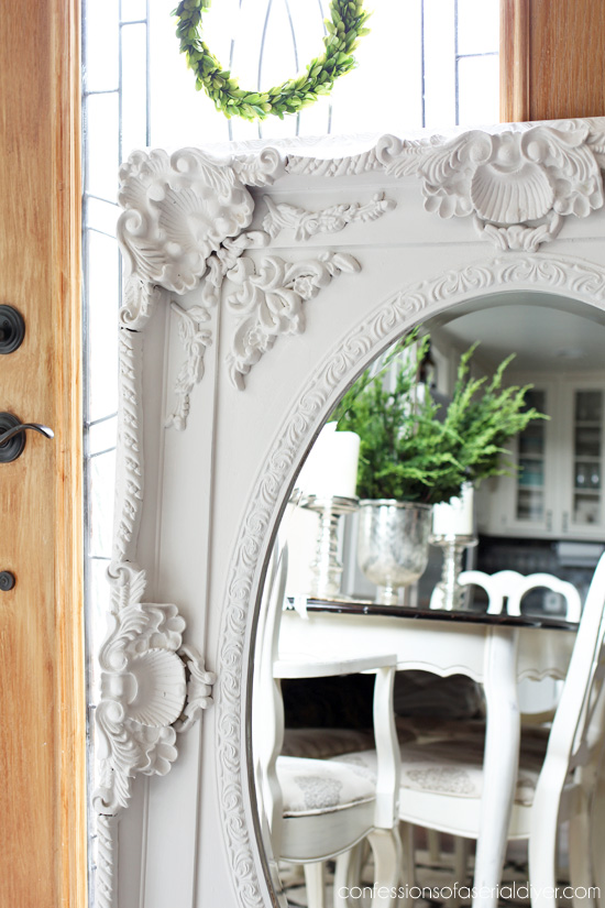 Ornate Mirror Painted with Fusion Mineral Paint in Casement from confessionsofaserialdiyer.com