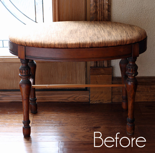 Oval Vanity Stool Makeover