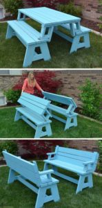 Convertible Picnic Table and Bench from Her Tool Belt