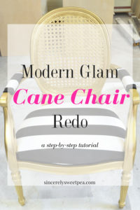 Modern Glam Cane Chair Redo from Sincerely Sweet Pea