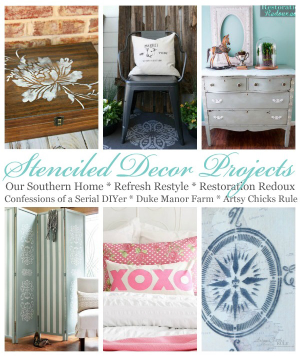 SIx creative ways to use stencils!