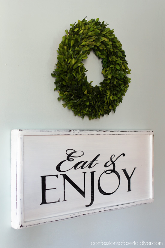 Turn a tray into a sign!