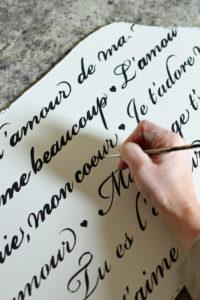 French script stencil