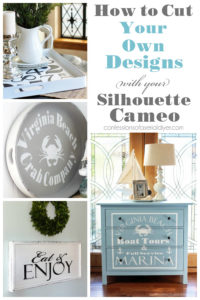 How to cut your own designs with your Silhouette Cameo from confessionsofaserialdiyer.com