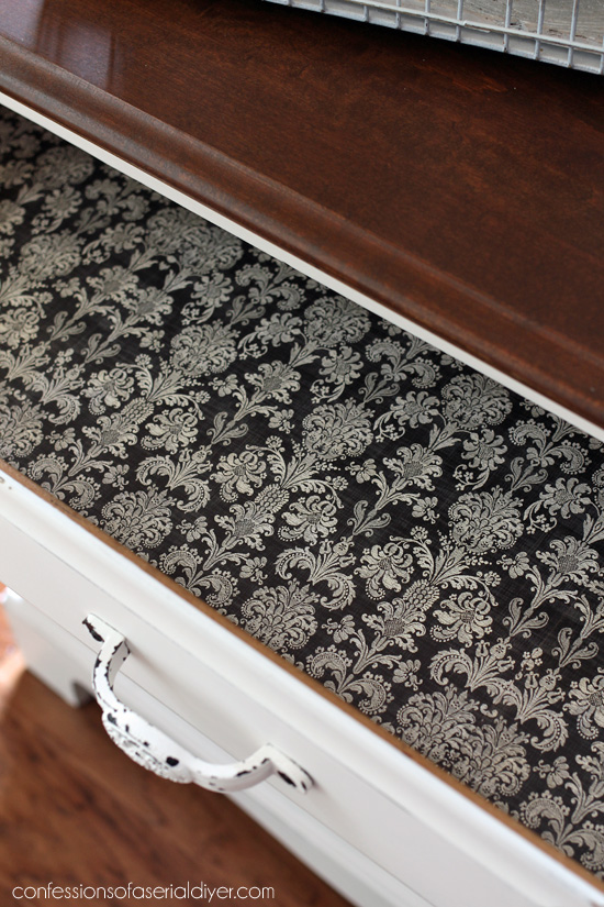 Line the drawers for a finished look inside!