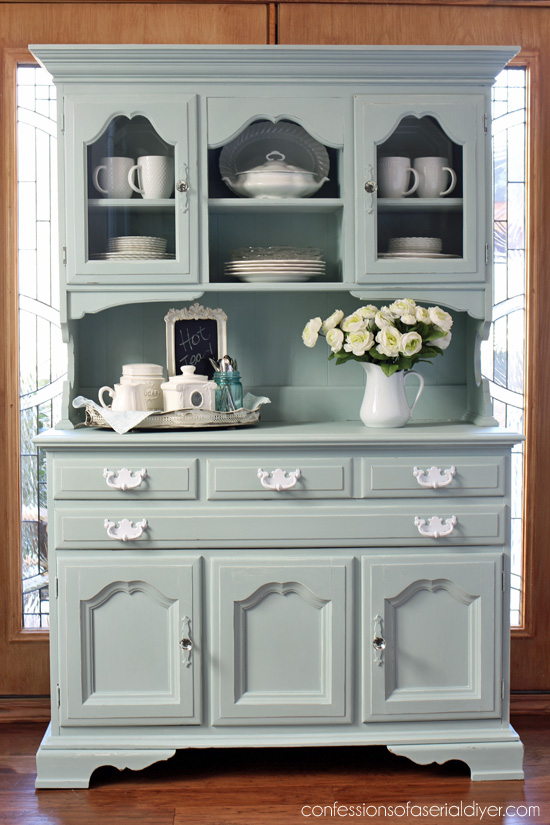 Thrift Store Hutch Makeover Confessions Of A Serial Do