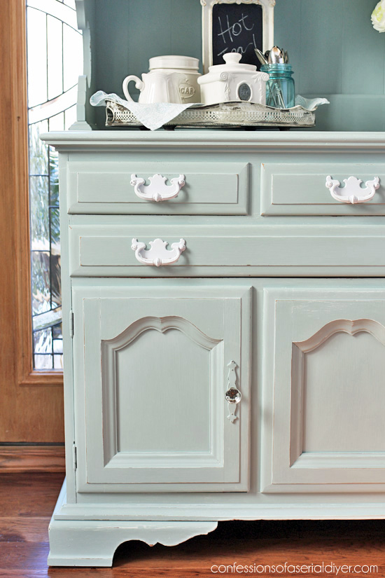 Thrift Hutch Made Over With Behr S Gray Morning Mixed 50 White