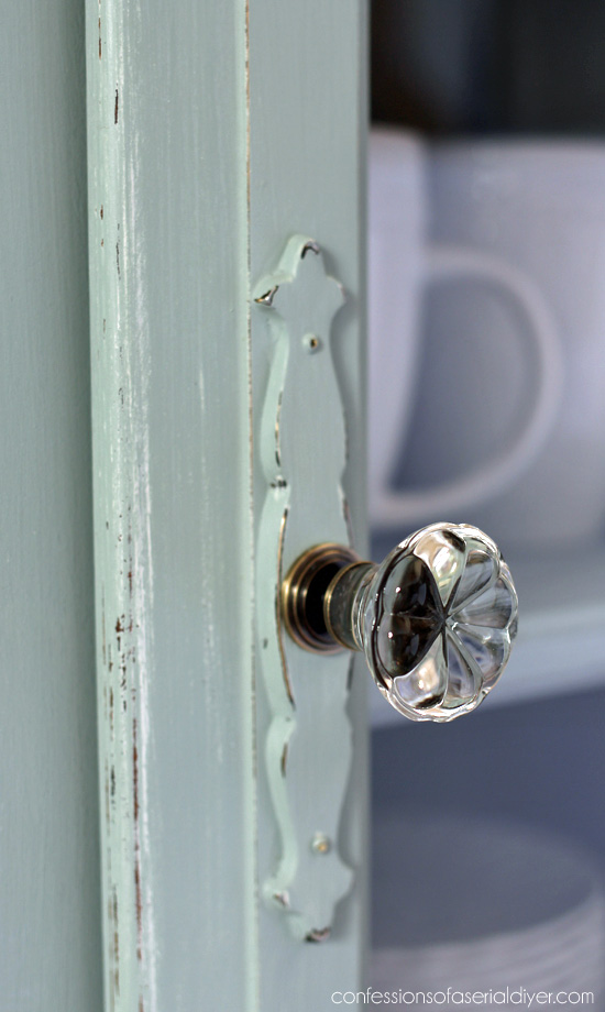 Glass knobs from HomeGoods