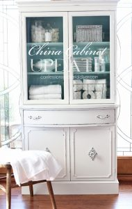 China Cabinet Update in A Bit of Sugar by Behr from confessionsofaserialDIYer.com