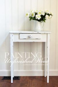 Painting Unfinished Wood Furniture