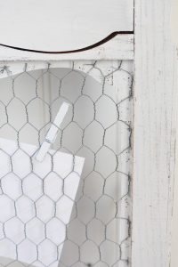 Secure chicken wire to your frame with a staple gun.