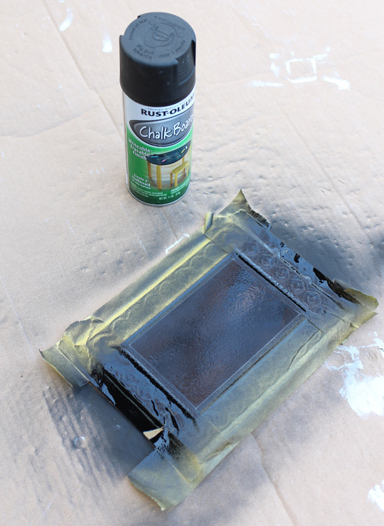 Rustoleum Chalkboard Spray Paint can turn any flat surface into a chalkboard.