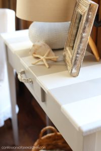 Unfinished Wood Console Table Makeover