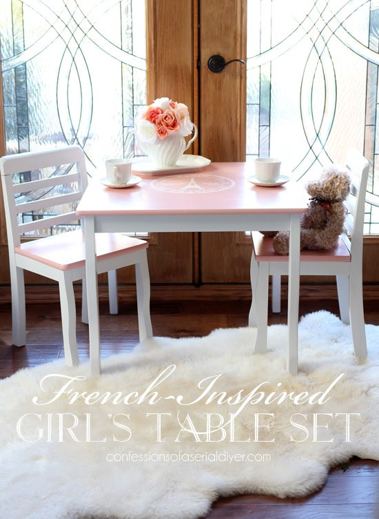 FrenchInspired Girls Table and Chair Set – Girls Table and Chair