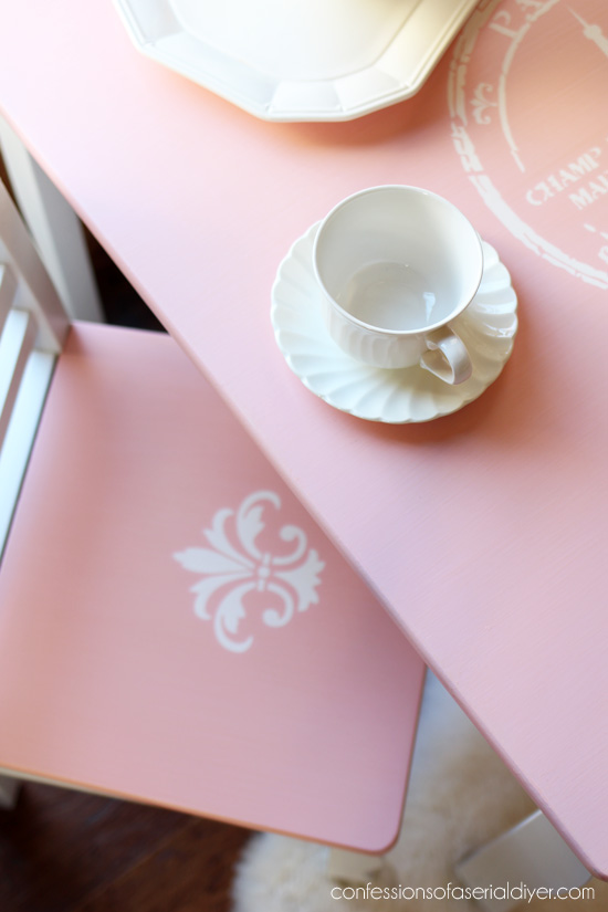 French-Inspired Girl's Table and Chair Set