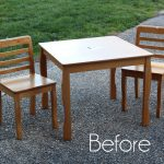 Kids' Table and Chairs Makeover