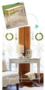 Striped Console Table from Confessions of a Serial DIYer