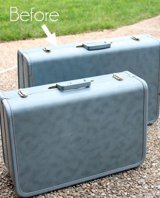 Vintage Suitcase Makeover | Confessions of a Serial Do-it-Yourselfer