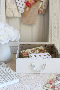 Thrift Store box updated to a cute storage piece from confessionsofaserialDIYer.com