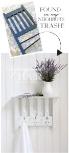 How to turn a chair into a shelf from confessionsofaserialdiyer.com
