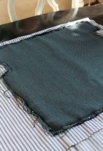 Use the old upholstery as a pattern for your new upholstery.