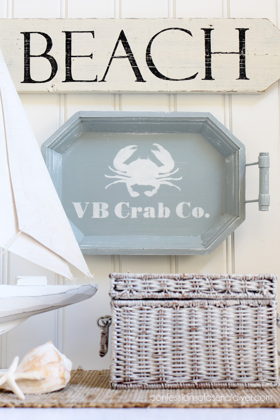Make an inexpensive tray over and use it as wall decor instead. confessionsof a serial diyer