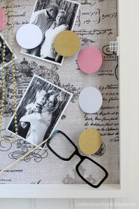Use an old window to create a large shadow box/bulletin board ! confessionsofaserialdiyer.com