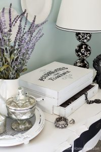 Turn an old flatware box into a jewelry box from confessionsofaserialdiyer.com