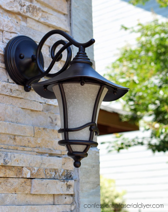 How to update outdoor light fixtures the easy way confessions of
