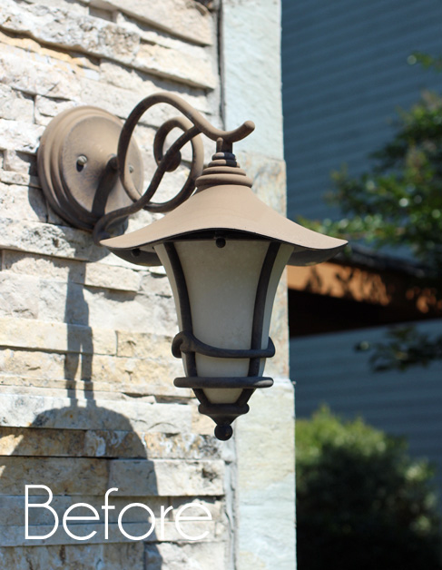 On The List Were These Outdoor Light Fixtures We Have Hanging On Either  Side Of Our Garage And French Doors In Our Bedroom: