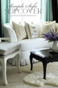 Simple Sofa Slipcover from confessionsofaserialdiyer.com