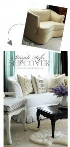 Simple Sofa Slipcover Tutorial from confessionsofaserialdiyer.com