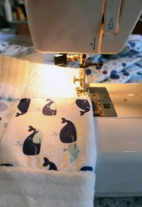 Make a baby quilt from a pack of already-coordinated receiving blankets!