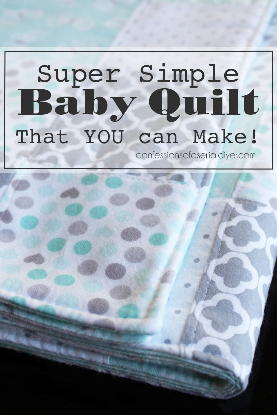 How to Make a Baby Quilt from Receiving Blankets (& Exciting News!)