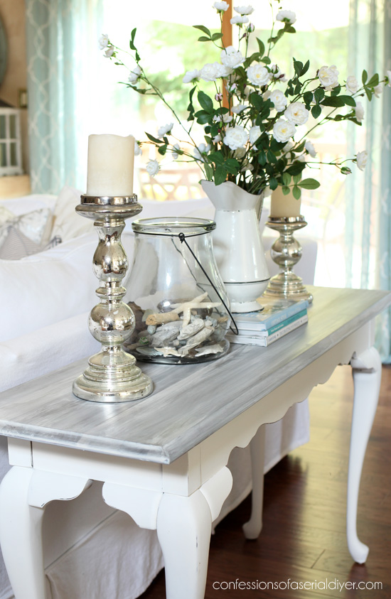 How to white wash a table from confessionsofaserialdiyer.com
