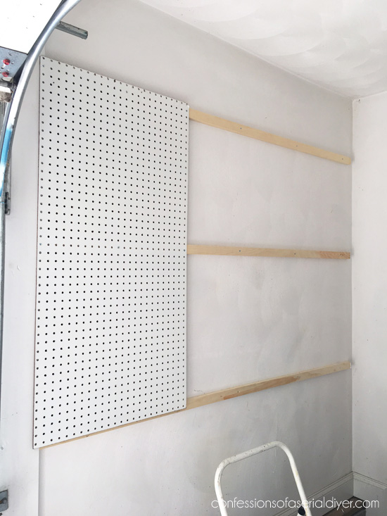 How to install peg board.