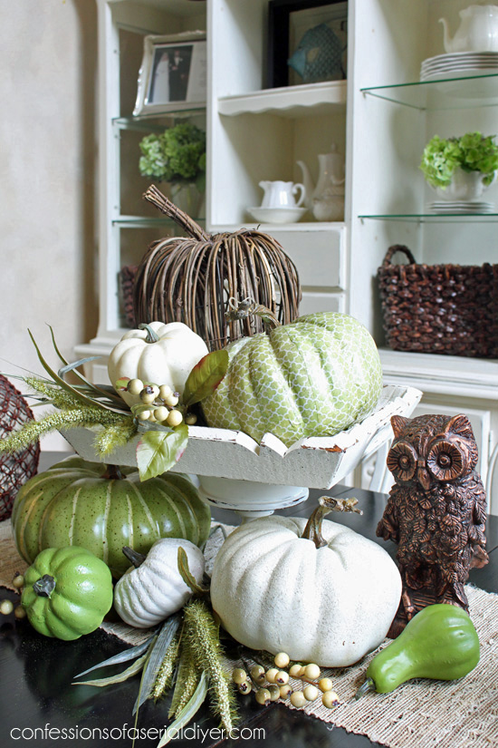Neutral Fall Vignette from thrift store throw-aways