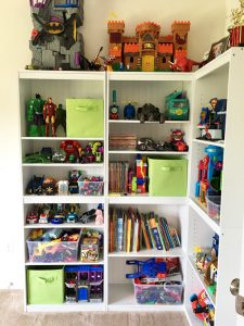 Target five shelf bookcase with beadboard backing from Lowes