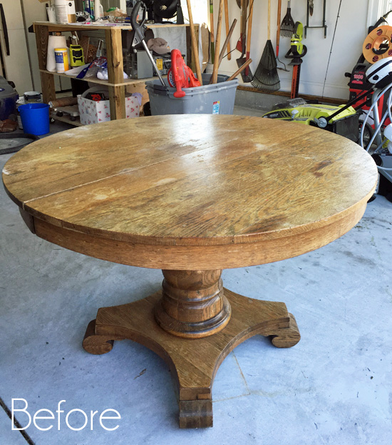 Pedestal Kitchen Table Makeover Confessions Of A Serial Do