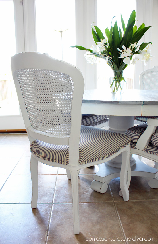 Cane-back chairs makeover