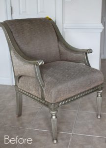 Upholstered Thrift Store Chair Makeover