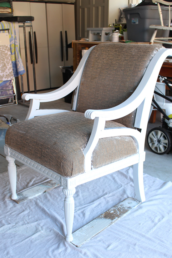 Chair painted with Fusion Mineral Paint in Casement