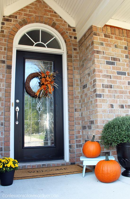 Front door using Behr's Exterior Satin Enamel in Black