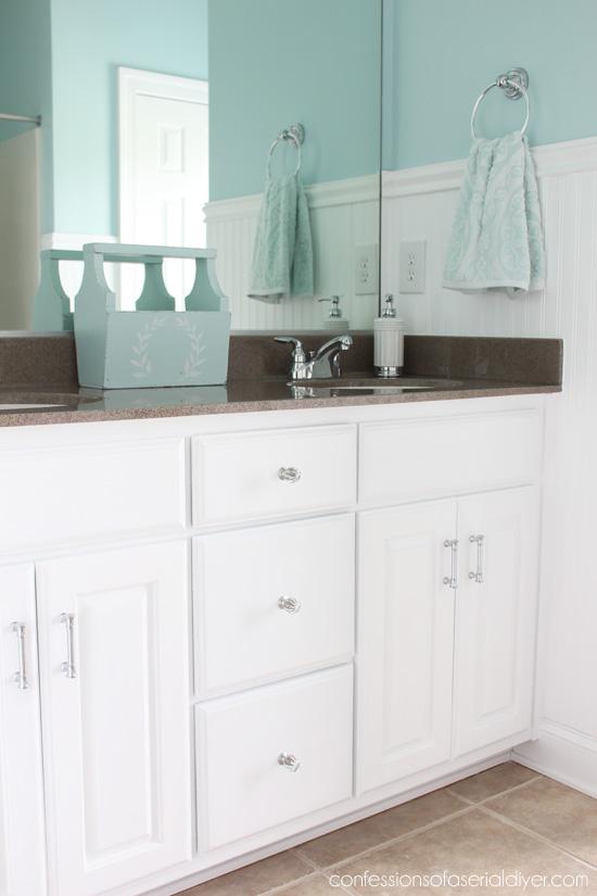 Painted vanity cabinet